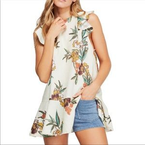 Free People Summer in Tulum Linen Tunic Top